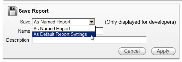 Save default report step 1