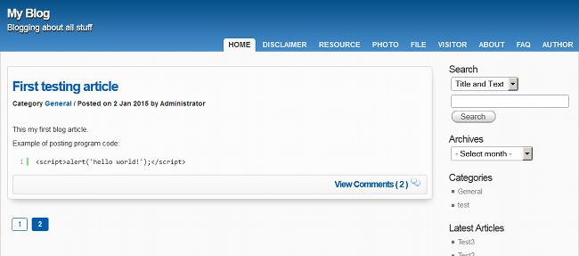 New APEX Blogging Platform
